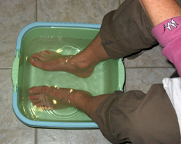 Bain de pieds à Montcucq